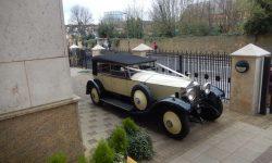 1927 Vintage Rolls Royce Phantom I convertible in Ivory White