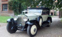 1927 Vintage Rolls Royce Phantom I convertible in Ivory White___