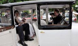 1928 Vintage 'Masons' British Built Citroen in White (interior)