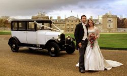 1928 Vintage 'Masons' British Built Citroen in White (with Bride and Groom)