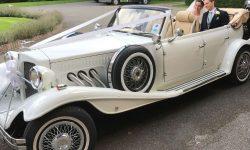 1930's 4 door long bodied Beauford open-top tourer in White 12