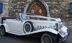 1930's style 2 door Beauford open-top convertible tourer in Ivory 4