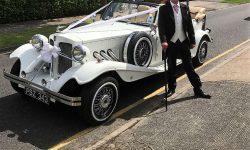 1930's style 2 door Beauford open-top convertible tourer in Ivory 5