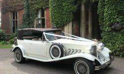 1930's style 2 door Beauford open-top convertible tourer in Ivory (roof up 2)