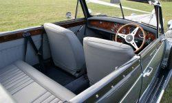 1930's style 2 door beauford open-top convertible tourer in Arctic and Teal Blue interior