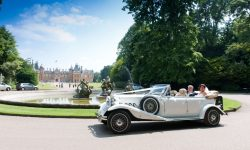 1930's style 4 door long bodied Beauford in White 1