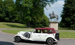 1930's style 4 door long bodied Beauford in White 2