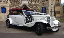 1930's style 4 door long bodied Beauford in White (new 1)