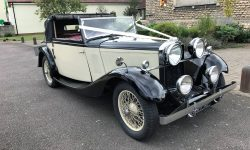 1933 Vintage Roech Talbot three position drop-head convertible (hood in half-back position) in Ivory 2
