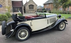1933 Vintage Roesch Talbot three position drop-head convertible in Ivory 3