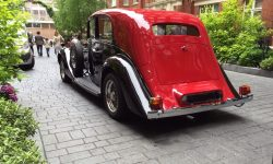 1937 Vintage Rolls Royce Phantom Continental Sports Saloon in Red over Black 3
