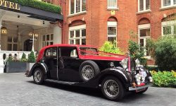 1937 Vintage Rolls Royce Phantom Continental Sports Saloon in Red over Black 4