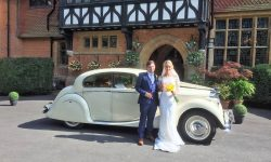 1950 MK V Jaguar in Ivory (with Bride and Groom)