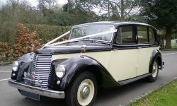 1951 Armastrong Siddleley long bodied Limousine in Black and Ivory 3