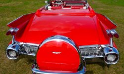 1959 Cadillac convertible in Festival Red 2