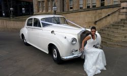 1960 RR Silver Cloud II in White (with bride)