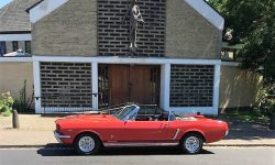1965 Ford Mustang convertible in Red 12