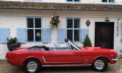 1965 Ford Mustang convertible in Red 13