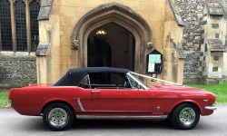 1965 Ford Mustang convertible in Red 15