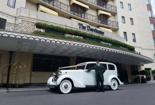 1937 Vintage Rolls Royce Phantom Limousine in White with White walled tyres (up to 6 passenger) 3