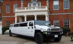16 passenger Hummer Limousine in White