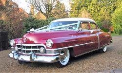 1950 Cadillac 4 door Saloon in Cream over Red 4 en