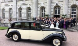 1951 Armastrong Siddleley long bodied Limousine in Black and Ivory 5