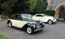 1951 Armastrong Siddleley long bodied Limousine in Black and Ivory 6