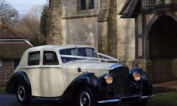 1952 Bentley 'R' Type Sports in Ivory with Black running boards and arches and cream leather interior 3