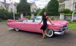 1959 Pink Cadillac convertible 2