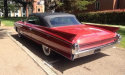 1962 Cadillac Eldorado Biarritz convertible in Cherry Red (Rear)