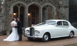 1963 RR Silver Cloud III in White (with Bride and Groom)