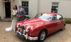 1964 Red MK II Jaguar with chrome wire-wheels 6