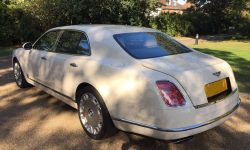 Latest model Bentley Mulsanne in White with cream leather interior and private plates 16