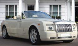 Rolls Royce Phantom Convertible in Corniche White 3