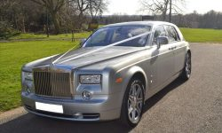 Rolls Royce Phantom Limousine in Silver with Seashell White leather interior 5