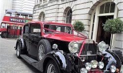 1937 Vintage Rolls Royce Phantom Continental Sports Saloon in Red over Black 6 en