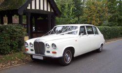 Classic style Daimler Limousine in White 2