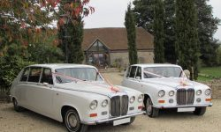 Matching Daimler Limousines in White