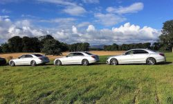 Silver LWB S Class Mercedes (multiple vehicles)